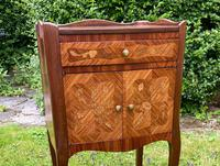 Pair of French Marquetry Bedside Tables in Kingwood (2 of 9)