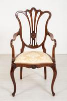 Pretty Mahogany Open Carver Chair (3 of 8)