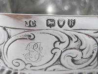 Charming Large Victorian Silver Heart Shaped Jewellery or Trinket Box (7 of 7)