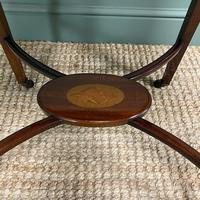 Small Edwardian Inlaid Mahogany Antique Sofa Table (7 of 9)
