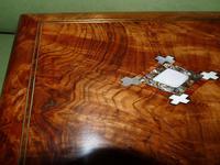 Quality Inlaid Burr Walnut Jewellery Box + Tray. c1875. (8 of 12)