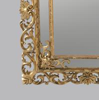 Large 19th Century Carved Giltwood Marginal Overmantle Mirror (10 of 16)