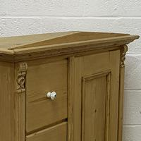 Antique Pine Bread Cupboard with Deep Drawers (3 of 6)