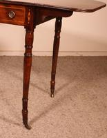 Early 19th Century Writing Desk in Mahogany with Flaps (10 of 13)