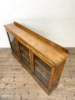 19th Century Glazed Walnut Bookcase (11 of 14)