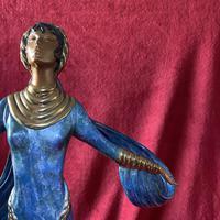 "Erte (romain De Tirtoff) Ltd Edition Bronze Sculpture ""Ecstasy"" 163/500 (3 of 16)"