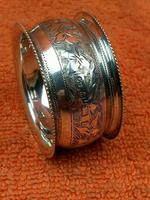 Antique Sterling Silver Hallmarked Napkin Ring 1901 John Rose