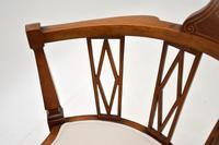 Antique Edwardian  Inlaid Mahogany Corner Chair (8 of 11)