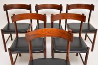 1960's Danish Vintage Rosewood Dining Chairs – Set of 6 (2 of 15)