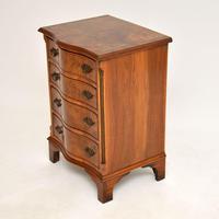 Antique Burr Walnut Serpentine Chest of Drawers (7 of 8)
