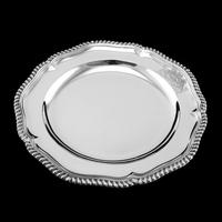 Antique Solid Silver Dish with Coat of Arms for Michael Bass, 1st Baron Burton - Garrard 1888 (9 of 21)