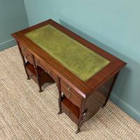Small Victorian Walnut Antique Writing Desk (4 of 5)