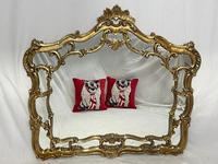 Large French Regency Gilt Pier Glass Acanthus Crown Wall Overmantle Mirror (10 of 13)