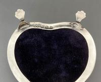 Superb Edwardian Heart Shaped Silver & Mother of Pearl Trinket Box (9 of 9)