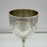 Antique Victorian Sterling Silver Wine Goblet London 1863 Henry Holland (5 of 8)