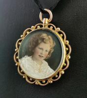 Antique Mourning Locket, Hairwork Pendant, 9ct Gold (7 of 10)