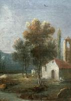 **Near Inverary** 18th Century Thomas Gainsborough Period Landscape Oil Painting (9 of 13)