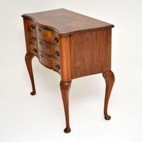 Antique Burr Walnut Lowboy Side Table (8 of 9)