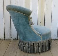 Antique French Napoleon III Armchair & Stool (3 of 10)