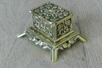 Fine Small Aesthetic Movement Brass Inkwell c.1890 (4 of 7)