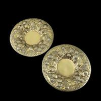 Magnificent Georgian Pair of Solid Silver Gilt Charger / Platter Dishes - George Burrows 1824 (3 of 27)