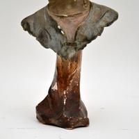 Antique Art Nouveau Plaster Bust by Hochock (5 of 10)