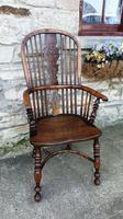 Fine Quality High Back Yew Wood Windsor Chair