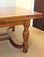 Large Antique Oak Extending Drawleaf Dining Table (3 of 15)