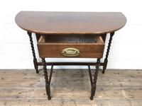 Antique Oak Demi-lune Console Table (7 of 14)