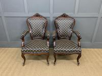 Pair of 19th Century French Rosewood Armchairs (2 of 16)