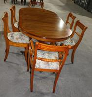 1940's Walnut Dining Suite with Set of 6 Walnut Dining Chairs (3 of 3)