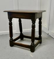 Another 19th Century Oak Joint Stool (3 of 6)