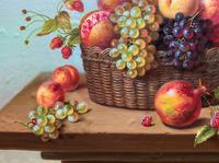 Original Vintage Still Life of Fruit & Flowers - 'Tom Caspers' 20thc British (11 of 12)
