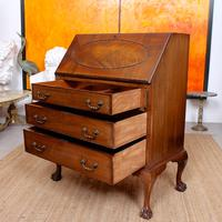 Bureau Mahogany Writing Desk Chest 19th Century Victorian (3 of 14)