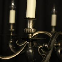 French Silver Plated 8 Light Mid 20th Century Chandelier (6 of 10)