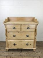 Victorian Antique Pine Chest of Drawers with Gallery Back (2 of 10)