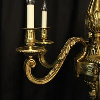 French Gilded Bronze 6 Light Antique Chandelier (2 of 10)