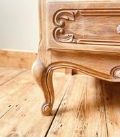 French Antique Style Chest of Drawers / Louis XV Style Raw Oak Chest (6 of 9)