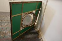 Large 19th Century Industrial Window Mirror with Central Leaded Bottle Glass Opening (8 of 8)