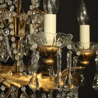 Italian Florentine Pair Of 5 Light Chandeliers (5 of 7)