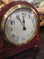 Small Edwardian Period Inlaid Mantel Clock (3 of 9)