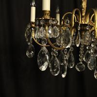 Italian Gilded & Crystal 6 Light Antique Chandelier (7 of 10)