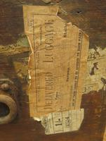 Antique Pine Tuck Box with Old Luggage Labels (11 of 19)