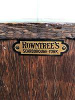 Antique Slim Glazed Oak Bookcase (5 of 11)