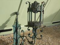 Antique Spanish Style Wrought Iron Wall Scones Set of Four (7 of 8)