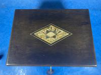 Victorian Ebonised Jewellery Box with Mother of Pearl & Abalone Inlay (8 of 18)
