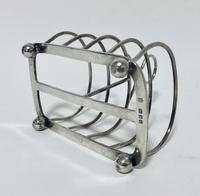 Antique Solid Silver Toast Rack (3 of 8)