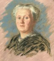 Fine Quality Early 20th Century Oval Pastel Portrait Painting Inc London Gallery Label (4 of 12)
