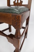 Set 4 Edwardian Arts & Crafts Oak Dining Chairs (8 of 13)