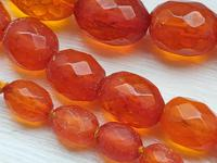 Antique Graduated Faceted Amber Beads Necklace 26 gr for Spare or re Stringing (3 of 11)